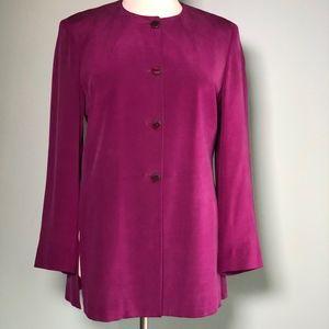 Liz Claiborne classic sueded silk jacket size 14